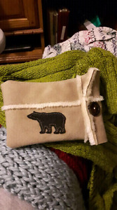 Suede Bear cell case