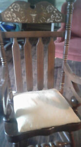 Patio Table, Rocking Chair, Queen Ann Chair, Barbeque and 2 book