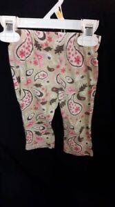 """Brown and Pink Paisley Pants"
