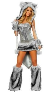 Like NEW women cute furry wolf Halloween/ Rave costume XL$