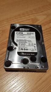 3x WD BLACK 2TB 3.5 HDD