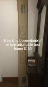 Adjustable metal bed frame -new in box