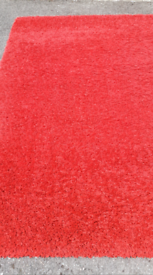 Rug, red shag pile, 230x160