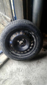 (4) 185/55R15 Cooper winter snow tires with rims