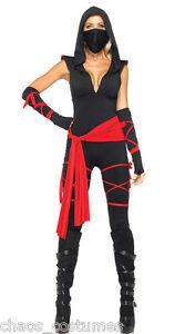 Black Ninja Samurai Crime Fighter DC Avenger Comic Costume 6 8 10