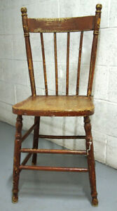 1 VTG Wooden Chair Farmhouse Country Kitchen