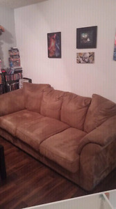Mocha Choclair microfiber couch
