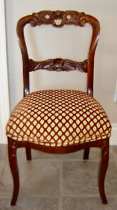 Beautiful Antique Handcarved Rosewood Lady's Chair