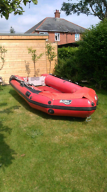 Achilles 12ft inflatable boat with 8hp mercury outboard