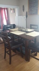 Pub style dining table