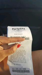Party City gift card/store credit