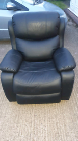 Reclining, swivel massage chairs
