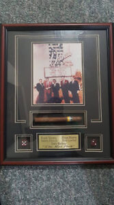 The Rat Pack - framed shadowbox w/cigar & casino dice