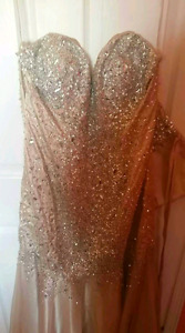 Beautiful Gold and Silver Bedazzled Strapless Dress