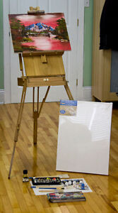 Portable Easel and Oil Painting accessories