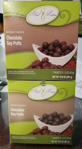 Ideal Protein Chocolate Soy Puff Bundle Of 2 Boxes ⛟ SAME DAY SHIPPING