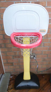 Outdoor toys (basketball net, lawn mower, trike) $ 5 ea