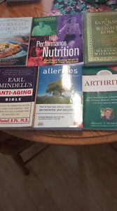 6 health-related books for sale!