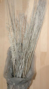 Variety of silver twigs $ 5, natural twigs $ 5