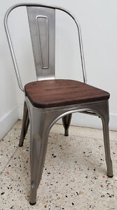 RESTAURANT INDUSTRIAL TOLIX METAL STYLE DINING CHAIR BAR STOOL