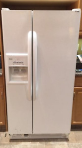 KENMORE side by side refrigerator and freezer white