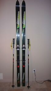 Men's Rossignol skis and poles
