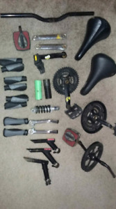 Various bike parts. New and used.