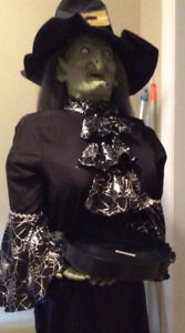 Spooky Life Size Witch with sound and movement!