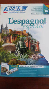 Cours espagnol Assimil, coffret cahier et clé USB