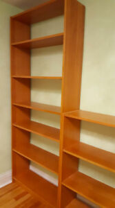 Billy book cases, single bed, desk and chair