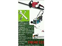 Repair petrol lawn mower, strimmer, chainsaw, hedge trimmer and more
