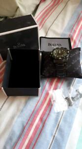 Black bulova watch