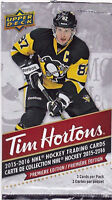 2015/16 TIM HORTON HOCKEY CARD DOUBLE