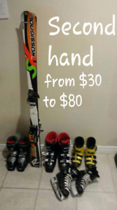 From $30 kids Ski shoes,snowboard ride brand $75