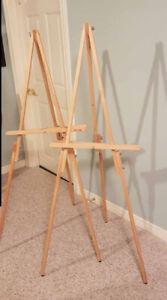 Artist Wood Tripod A-Frame Easel Stand Floor Displays - 2