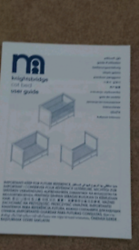 Mothercare - Knightsridge Cot Bed.