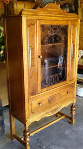 China /Display Cabinet, Vintage, Solid Wood