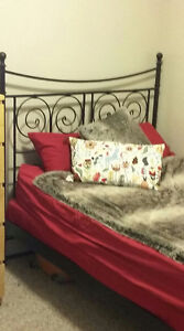 Ikea double bed frame $100 obo free double mattress + boxspring