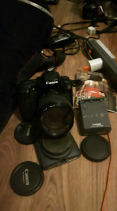 Canon eos20D with lenses and 2 cases(professional camera)