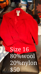 Ladies coats (size 16&18) in excellent condition.