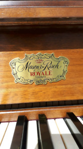 Antique Mason & Risch Royale upright piano