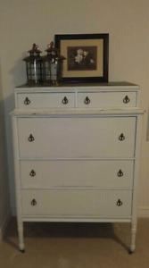 Tall boy  antique dresser