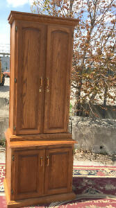 Attractive Custom Made Oak Rifle Cabinet SEE VIDEO