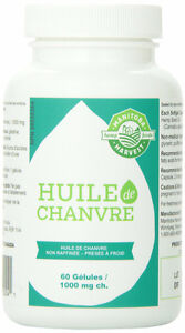 60 Gélules de 1000 mg D'Huile De Chanvre Manitoba Harvest