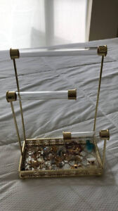 Towel and jewelry holder