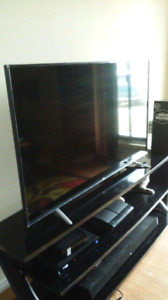 """60"""" LG HD LED TV and 65"""" GLASS TV STAND"""