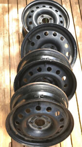 """4 - 15"""" Steel Rims with pressure sensors for Ford Focus"""