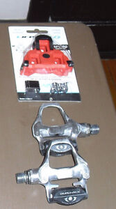 DURA ACE 7810 Pédales Pedals W/ NEW cleats CALES SMOOTH