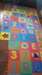 47 Pieces of Foam Numbers & Alphabet...Clean, Covers Huge area