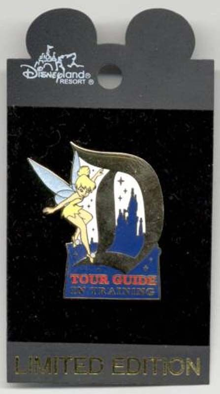 """TINKER BELL TOUR GUIDE IN TRAINING """"D"""" PIN TINKERBELL"""